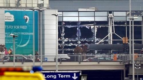 فرودگاه بروکسل بعد از انفجار