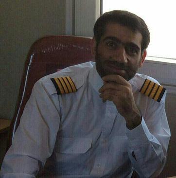 استاد تمام کاپیتان شهید حجت الله خرم دشتی خلبان بالگرد امروز سقوط کرد