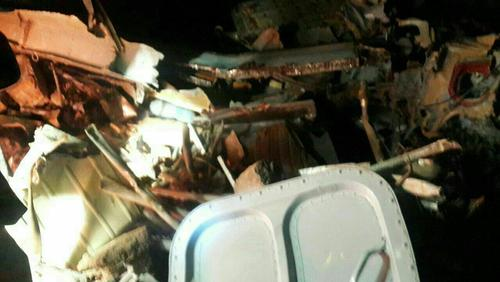 لاشه بالگرد اورژانس سقوط کرده در استان فارس با 9 کشته