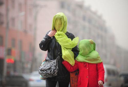 آلودگی هوا در شهر لیونینگ چین