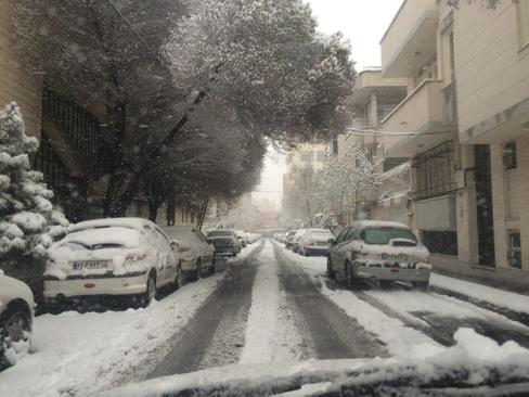 بارش برف در تبریز- جواد سلطانی