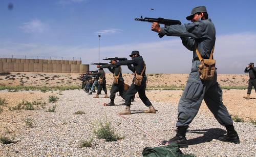 رزمایش نیروهای پلیس ایالت ننگرهار افغانستان