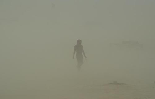 توفان شن در الله آباد هند
