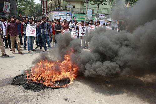 اعتراض به قتل جوان وبلاگر بنگلادشی در شهر داکا