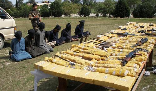 دستگیری 7 ستیزه جوی طالبان و مقادیری سلاح در خوست افغانستان