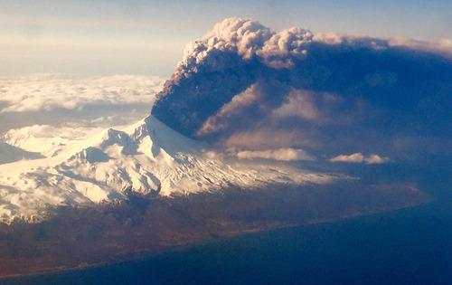 فوران فعال ترین آتشفشان ایالت آلاسکا - آمریکا