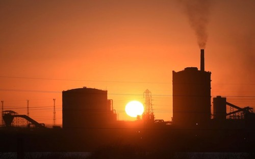 کارخانه فولاد تاتا استیل در بندر تالبوت - جنوب ولز- انگلستان