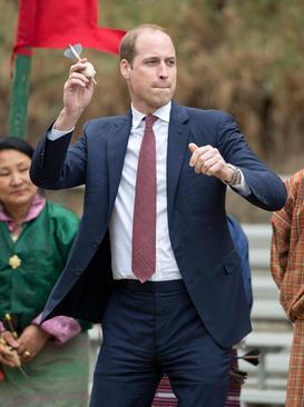شاهزاده ویلیام و کاترین میدلتون زوج خانواده سلطنتی انگلیس در جریان سفر به کشور بوتان