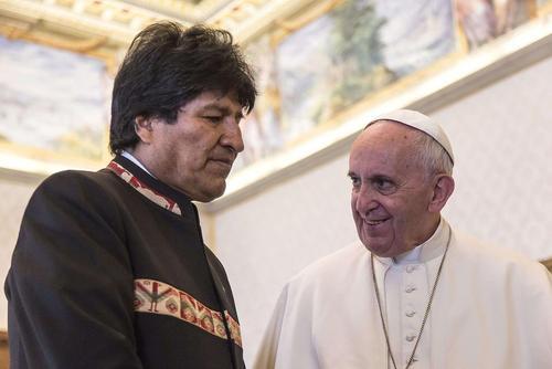 سفر ایوو مورالس رییس جمهور بولیوی به واتیکان و دیدار با پاپ فرانسیس
