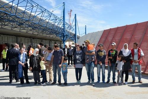 12 پناهجوی سوری که به همراه هواپیمای پاپ از لسبوس عازم شهر رم شدند