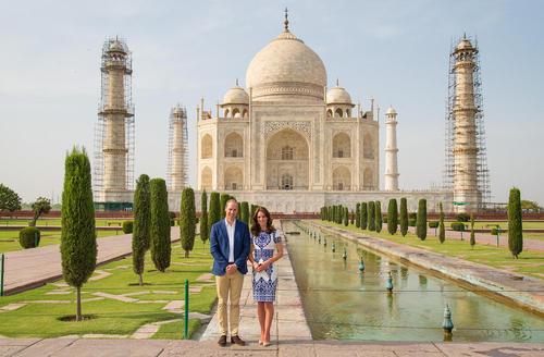دیدار پرنس ویلیام و همسرش کاترین میدلتون از بنای تاریخی تاج محل در آگرا هند