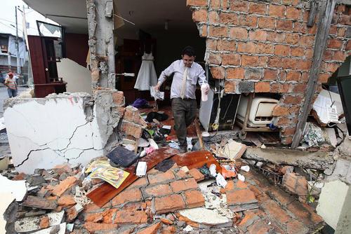 ویرانی های ناشی از زلزله 7.8 ریشتری در اکوادور