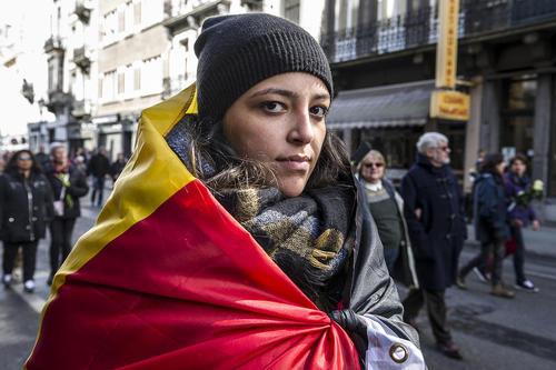 تظاهرات علیه خشونت و ترور در بروکسل بلژیک