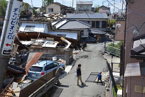 خرابی های ناشی از زلزله هفته گذشته در کوماماتو ژاپن