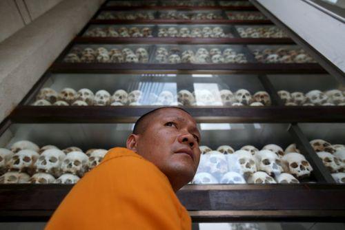 نمایش 5 هزار جمجمه قربانیان خشونت های خمرهای سرخ کامبوج در موزه ای در شهر پنوم پن