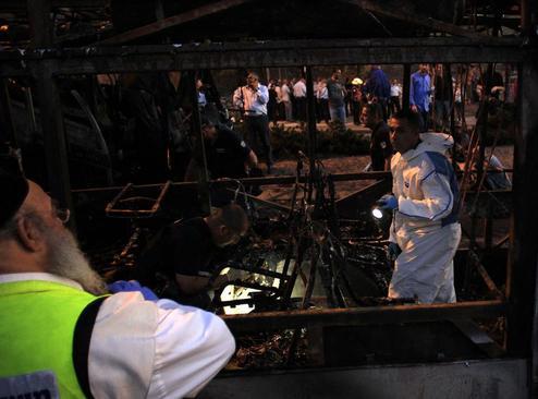 انفجار بمب در اتوبوسی در شهر قدس 21 زخمی برجا گذاشت