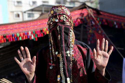 زن فلسطینی در غزه در