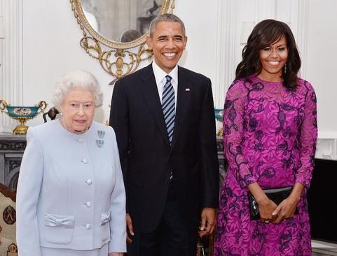 سفر اوباما به انگلیس و دیدار با ملکه الیزابت و دیوید کامرون