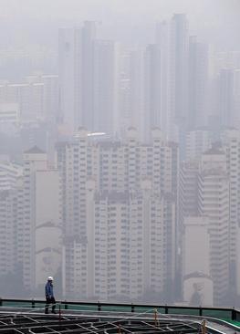 توفان شن در شهر سئول کره جنوبی