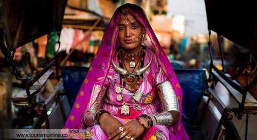 زنی در جوداپور هند