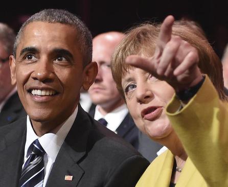 حضور اوباما و مرکل در آیین گشایش نمایشگاه سالانه هانوفر آلمان