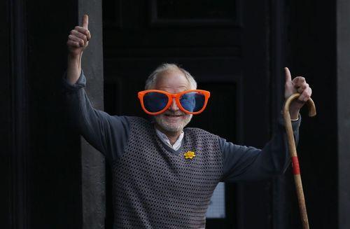 شرکت کننده سالمند در ماراتون سالانه شهر لندن