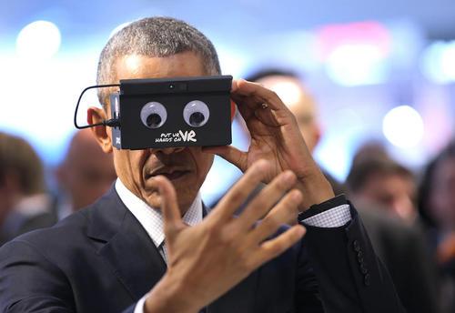 باراک اوباما در نمایشگاه بین المللی فناوری در هانوفر آلمان