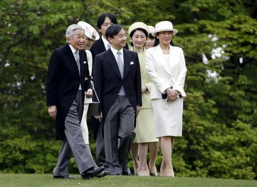 خانواده امپراتوری ژاپن میزبان یک میهمانی بهاره در قصر آکاساکا  در شهر توکیو