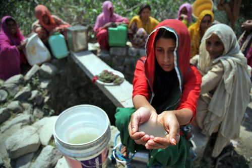 کیفیت آب یک چاه در کشمیر هند