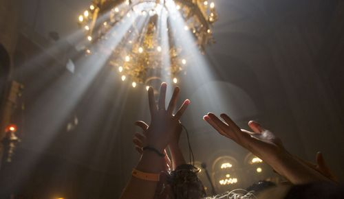 جشن آتش مقدس در کلیسایی در شهر قدس