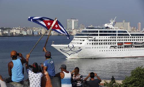 استقبال از کشتی آمریکایی در ساحل شهر هاوانا کوبا