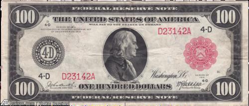 اسکناس صد دلاری مربوط به 1914