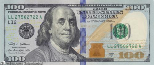 جدیدترین اسکناس صد دلاری