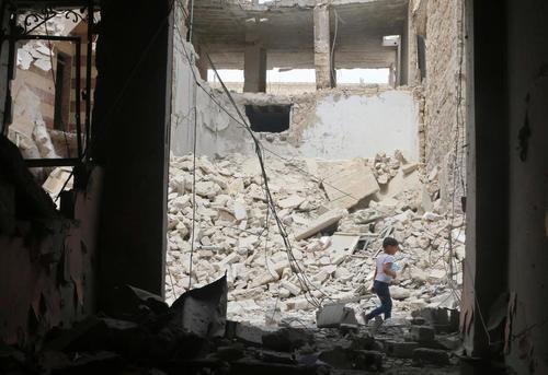 ویرانه های جنگ در حلب سوریه