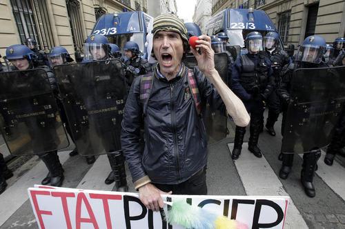 تظاهرات علیه اصلاح قانون کار فرانسه – پاریس