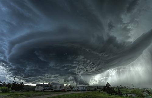 گردباد عظیم در بلک هاوک، داکوتای جنوبی