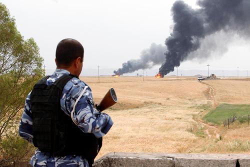 انفجار در یک میدان نفتی در کرکوک عراق