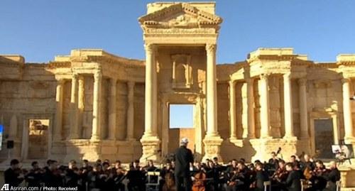 تصاویر کنسرت موسیقی در شهر تاریخی پالمیرا سوریه
