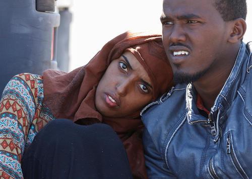 پناهجویان آفریقایی تبار در سواحل ایتالیا