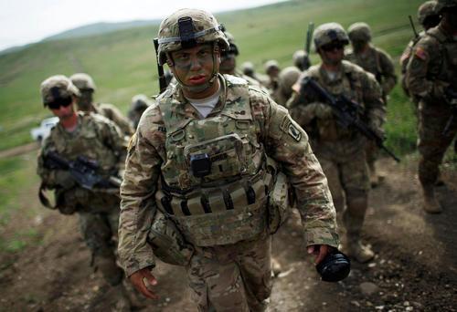 نیروهای آمریکایی در مانور مشترک ناتو در منطقه وازیانی گرجستان