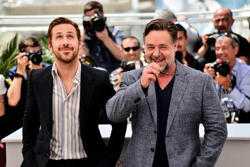 راسل کرو و رایان گاسلینگ در جشنواره فیلم کن فرانسه