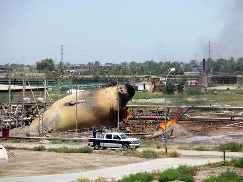 حمله انتحاری داعش به نیروگاه گاز تاجی در بغداد