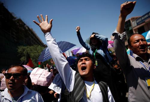 تظاهرات قوم هزاره در شهر کابل افغانستان