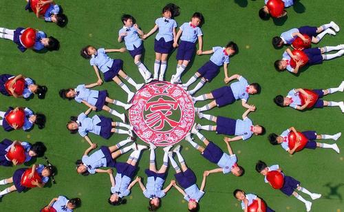 جشن پایان سال یک پیش دبستانی در شهر یانگژو چین
