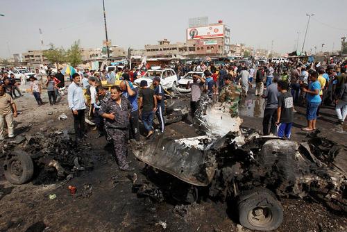 انفجار تروریستی در شهرک صدر بغداد