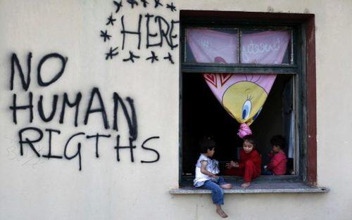 کمپ پناهجویان در مرز یونان و مقدونیه