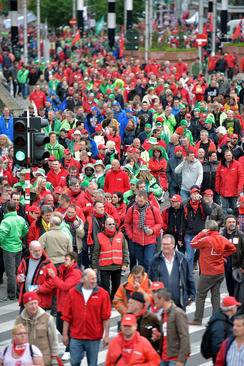 تظاهرات علیه سیاست های ریاضت اقتصادی دولت بلژیک – بروکسل