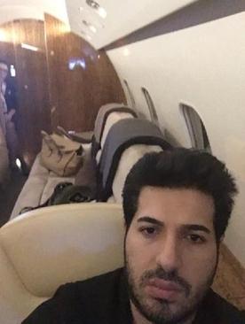 تصاویر داخل تلفن همراه رضا ضراب هنگام دستگیری او در آمریکا