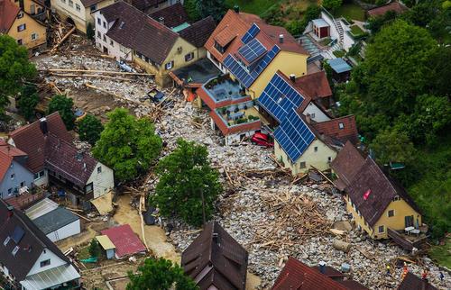 ویرانی های ناشی از سیل در جنوب آلمان