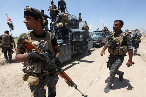 نیروهای عراقی در حومه شهر فلوجه